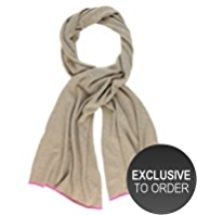 M&S Collection Pure Cashmere Fluro Tipped Scarf