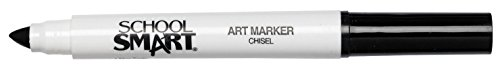 School Smart Chisel Tip Watercolor Marker - Set of 12 - Black
