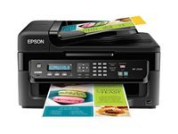 Epson WorkForce WF-2520 All-in-One Inkjet Printer, 5760x1440 Optimized dpi Resolution, 9.0 ISO ppm Black / 4.7 ISO ppm Color Print Speed, USB 2.0 Interface