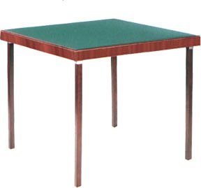 Table de bridge club deluxe finition acajou tapis vert - Table de bridge pliante ...