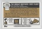 The Wright Brothers' First Flight (Trading Card) 2009 Topps Heritage American Heroes Edition #114