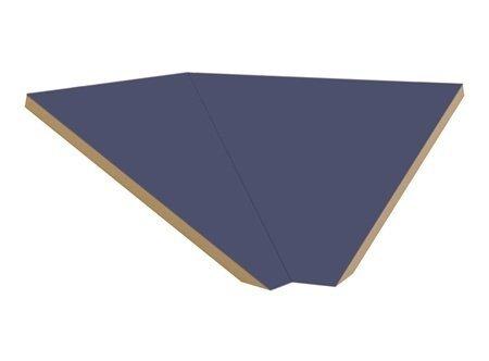 """Sloping Hood Corner Filler Size: 7.75"""" H X 21"""" W X 22"""" D, Color: Blue front-546148"""