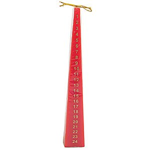 Advent Pyramid Candle Tall - Red from Crafty Jungle