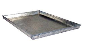 Everila Dog Crate Cage Kennel Replacement Galvanized Steel Metal Pan Tray Floor Size: 35.5 (Kennel Pan compare prices)