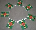 6m 20 flag Dominica Polyester bunting flags