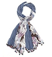 M&S Collection Lightweight Harlequin Scarf