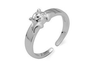 """Disney Sterling Silver Winnie The Pooh """"Peeping at You"""" Toe Ring"""