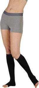 Juzo 18675 30-40 mmHg, Dynamic, Knee, OT, Short, Silicone, 5cm, Black - Size II (Color: Black, Tamaño: II Short)