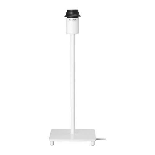 "Ikea Januari Table Lamp Base 14"" White"