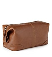 Leather Stitched Washbag