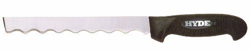 Hyde Tools 60118 8-3/4-Inch 14-Gauge Square-Point Insulation Knife, Black And Silver