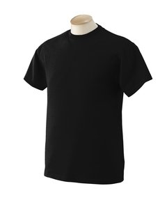 Fruit of the Loom 3930 Adults's Heavy Cotton T-Shirt Black Large