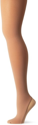 Capezio Women's Microfiber Over-The-Boot Skate Tight,Nude,Large