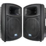 Seismic Audio - PWS-15 (Pair) - Powered PA/DJ 15\