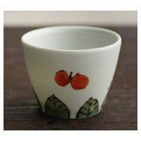 九谷青窯 そば猪口 デザートカップ/くたにせいよう ワンサイズ 米満麻子/色絵葉っぱに蝶