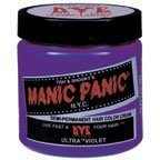 purple hair color, Manic Panic, Manic Panic 4oz Semi-Permanent Ultra Violet Hair Dye Purple
