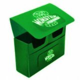 Monster Protectors Trading Card Double Deck Box with Self-locking Magnetic Closure - Green (Fits Yugioh, Pokemon, Magic the Gathering Cards)
