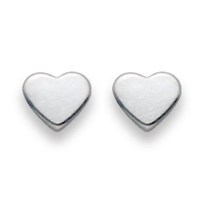 In scatola regalo di Natale, in argento Sterling, orecchini a perno a forma di cuore, misura: 4 mm, spedito senza indugio 5010 di prima classe della posta.