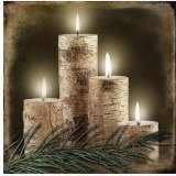 Ohio Wholesale Radiance Lighted Birch Candle Canvas Wall Art, from our Lodge Collection