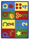 "Joy Carpets Kid Essentials Infants & Toddlers Basics Rug, Bold, 3'10"" x 5'4"""