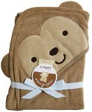 Child of Mine Monkey Hooded Bath Towel - Brown