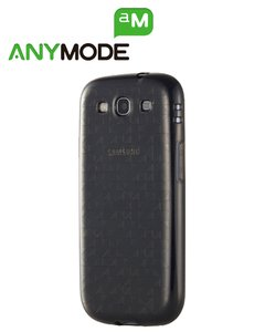 Anymode TPU Cover POLYGON PATTERN (schwarz) für Samsung S3 i9300 SIII S3