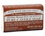 Dr. Bronner's Magic Soaps: Pure Castile Bar Soap, Eucalyptus 5 oz (5 pack)
