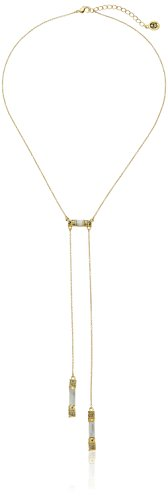 House of Harlow 1960 Age of Antiquity Bolo Tie Howlite Pendant Necklace, 18.5