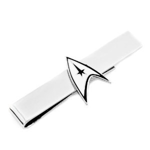Officially Licensed Star Trek Tie Bar Starfleet communicator badge worn by Captain Kirk and Mr. Spock