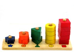 QToys Australia Counting Stair (Wooden toys) - 1