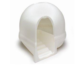 猫用ハウス型トイレ!PETMATE(ペットメイト) クリーンステップリッターボックス パールホワイト