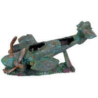 Plane Wreck Aquarium Ornament - 13.8 in.x 9.8 in. x 7.3 in.