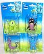 "Set of 4 Disney / Pixar Monsters Inc. Figurines Featuring the Scream Team "" Mike, Boo , Sulley , & Randall "" 2 Inches Tall"