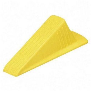 Giant Foot Doorstop, No-Slip Rubber Wedge, 3-1/2w x 6-3/4d x 2h, Safety Yellow - Sold As 1 Each