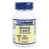 Life Extension Vitamin D with Sea Iodine and Vitamin K2, Vegetarian Capsules, 60-Count
