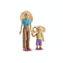 Loving Family Dollhouse Figures: Mom & Toddler