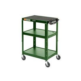 Green Steel Audio Visual & Instrument Cart