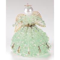 Birthstone Angel Ornament Bead Kit - August Peridot