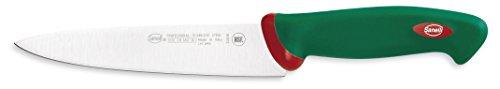 Sanelli Premana Coltello Cucina, Acciaio Inossidabile, Verde, 18 cm