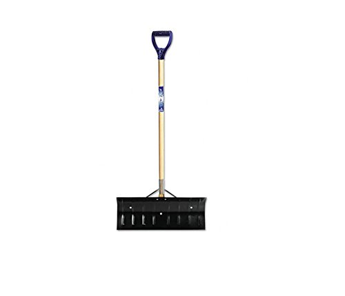 Cheapest Price! Wide Snow Shovel Pusher Winter Plow Tool with Heavy Duty Steel Metal Blade and Big S...