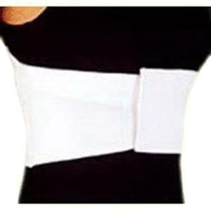 """DSS CMO Female Elastic Rib Belt Extra-Large 6"""" L, White, 42"""" to 48"""" Chest Circumference"""