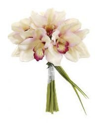 Allstate FBQ007-PK-BU 10 in. Cymbidium Bouquet Pink -Burgundy- Case of 12