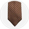 Tan with Pink Paisley Tie.