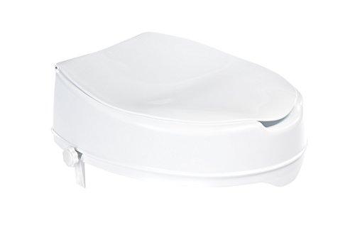 Ridder A0071001 - Rialzo per seduta WC, con coperchio, altezza: ca. 10 cm