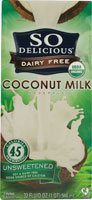 So Delicious Organic Coconut Milk Beverage Unsweetened Gluten Free -- 32 fl oz - 1