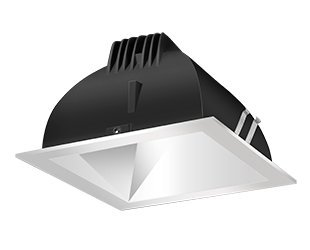 Rab Lighting Ndled4S-80Y-M-S Led Trim Mod- 4 Square 3K 80-Degree Silver Ring With Matte Cone