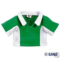 Webkinz Clothes - Green and White Fleecy