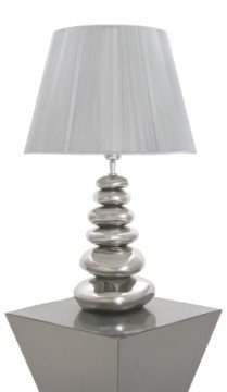 Aimbry Large Silver Pebble Lamp Complete with Shade