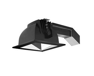 Rab Lighting Rdled6S20L-Wy-S-B Black Trim Ring Wallwash Specular Silver 6'' Square Trim Cone 20W 3000K Warm Dimmable Lutron Square Remodeler Led Downlights Module