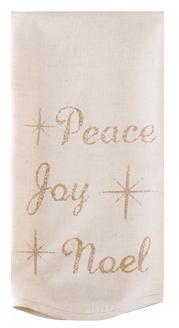 "Noel Nostalgia Holiday Christmas Tea Towels ""Peace"" (Set Of 2)"